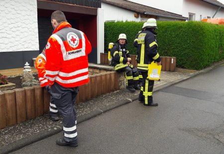 Feuerwehr Eschbronn im Einsatz Gebäudebrand