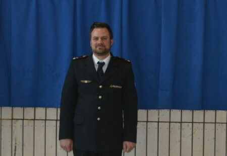 v.re. Bürgermeister Franz Moser Kommandant Andreas Noth Stellvertretende Kommandant Bernd Rühle