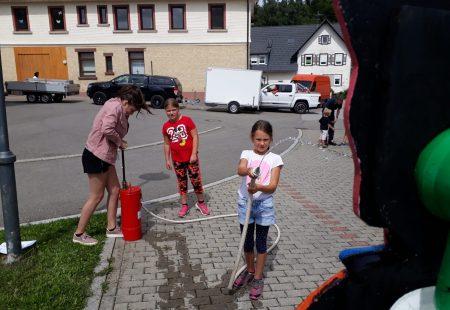 Kinderferienprogramm bei der Feuerwehr Eschbronn