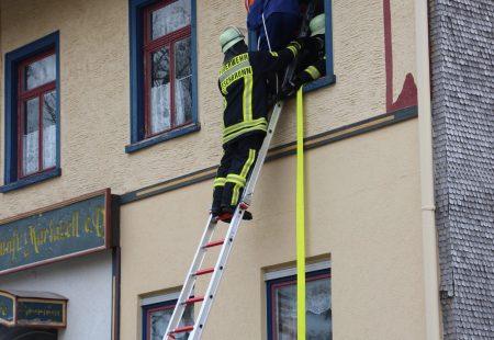 Menschenrettung Hauptübung Feuerwehr Eschbronn