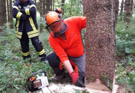 Maschinistenübungsdienst Feuerwehr Eschbronn