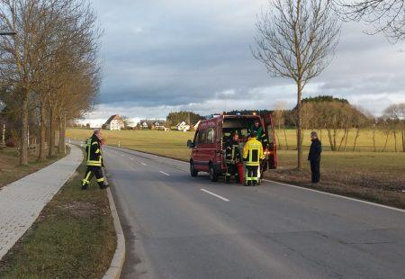 Feuerwehr Eschbronn Beseitigung Benzin Ölspur