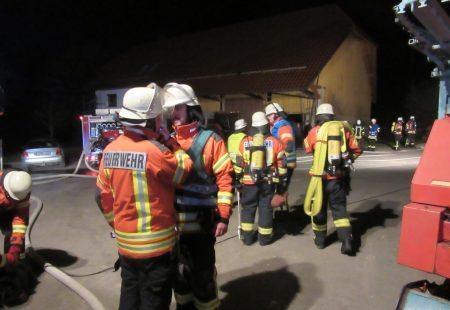 Gemeinsame Übung Feuerwehr Eschbronn mit Feuerwehr Dunningen