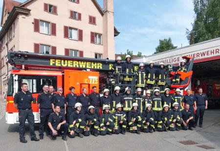 Bestandene Grundausbildung Feuerwehr