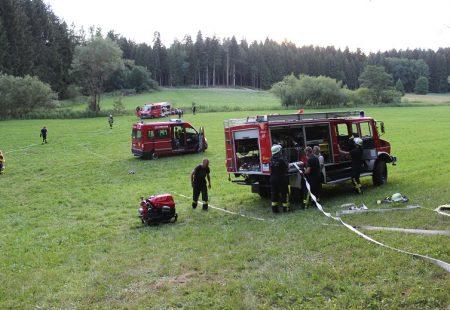Waldbrandübung Feuerwehr Eschbronn Feuerwehr Dunningen